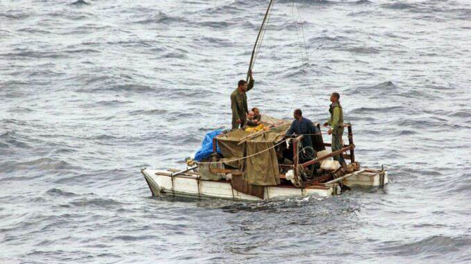 Flüchtlinge auf einem Boot